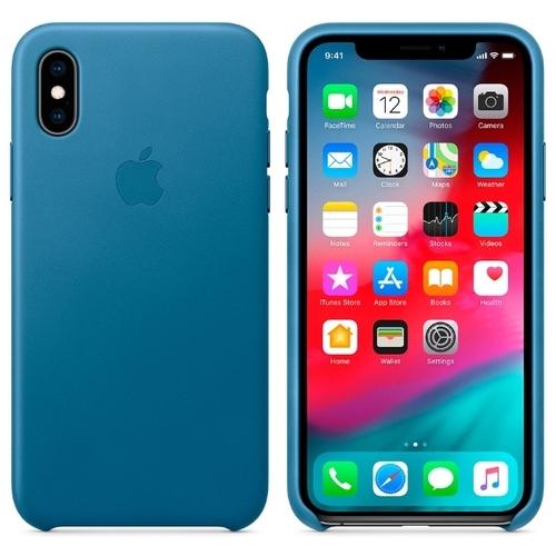 Чехол Apple кожаный для iPhone XS