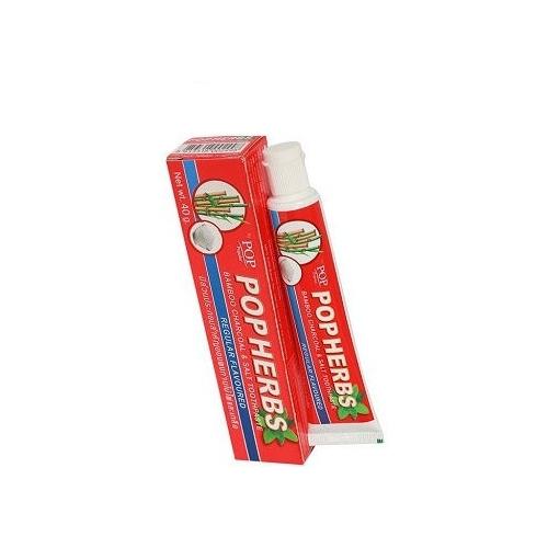 Зубная паста POP Popular Растительная с бамбуковым углем и соль
