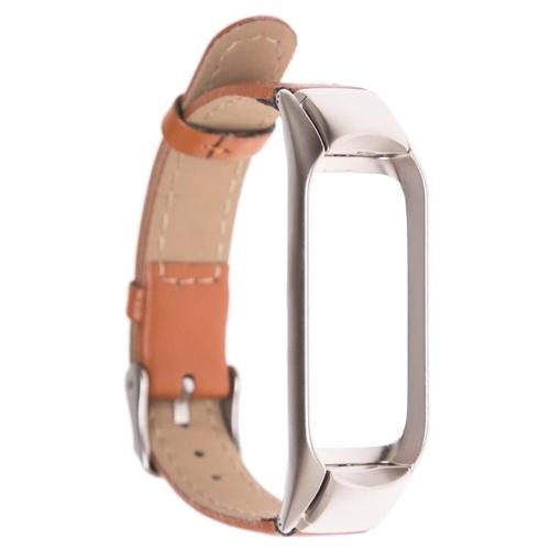 GSMIN Кожаный ремешок Leather Collection для Xiaomi Mi Band 3/Xiaomi Mi Band 4