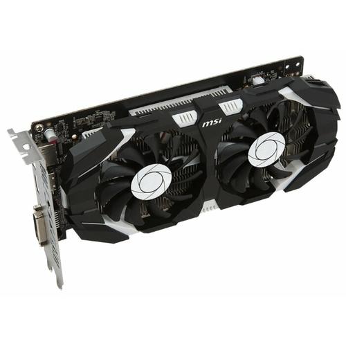 Видеокарта MSI GeForce GTX 1050 Ti 1341MHz PCI-E 3.0 4096MB 7008MHz 128 bit DVI DisplayPort HDMI HDCP OC Dual Fans