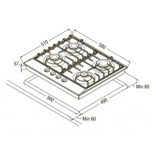 Варочная панель Schaub Lorenz SLK GZ6010
