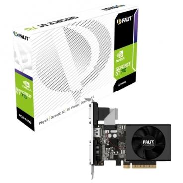 Видеокарта Palit GeForce GT 710 954Mhz PCI-E 2.0 2048Mb 1600Mhz 64 bit DVI HDMI HDCP