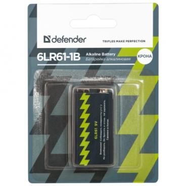 Батарейка Defender алкалиновая 6LR61 Крона