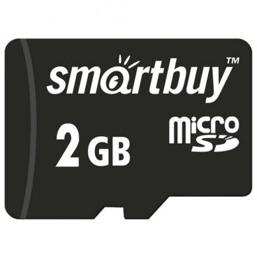 Карта памяти SmartBuy microSD 2GB + SD adapter