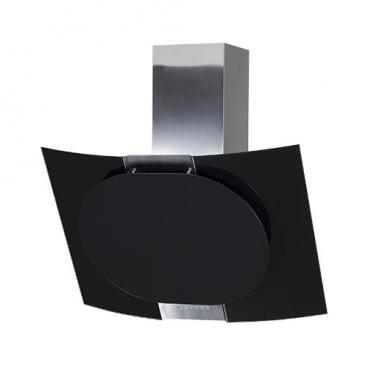 Каминная вытяжка ELIKOR Графит 80 нержавейка черное стекло