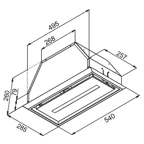 Встраиваемая вытяжка Kuppersberg INBOX 54 X