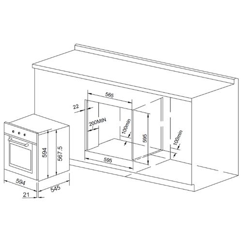 Электрический духовой шкаф PYRAMIDA F 82 M BL