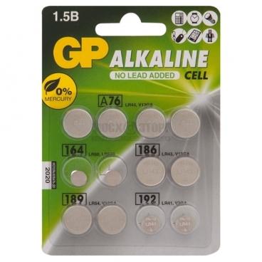 Батарейка GP Набор Alkaline Cell LR44, LR41, LR621, LR43, LR54