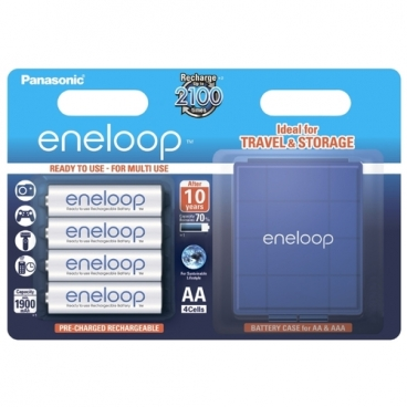 Аккумулятор Ni-Mh 1900 мА·ч Panasonic eneloop AA + кейс