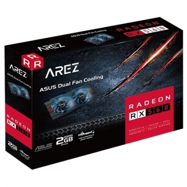 Видеокарта ASUS AREZ Radeon RX 560 1149MHz PCI-E 3.0 2048MB 6000MHz 128 bit DVI DisplayPort HDMI HDCP EVO
