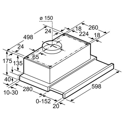 Встраиваемая вытяжка Bosch DHI 645 FTR