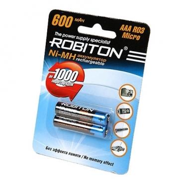 Аккумулятор Ni-Mh 600 мА·ч ROBITON AAA R03 Micro 600