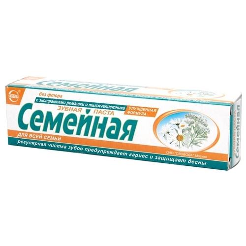 Зубная паста СВОБОДА Семейная Тысячелистник и ромашка