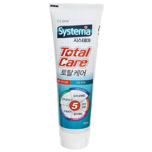 Зубная паста CJ Lion Systema Total Care Зеленая мята