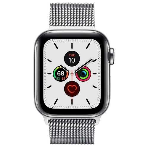 Часы Apple Watch Series 5 GPS + Cellular 40mm Stainless Steel Case with Milanese Loop