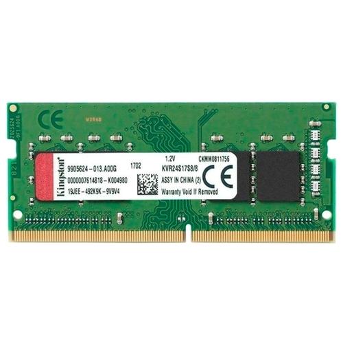 Оперативная память 8 ГБ 1 шт. Kingston KVR24S17S8/8