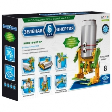 Электромеханический конструктор ND Play На солнечной энергии 265609 Зеленая энергия 6 в 1