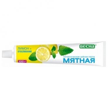 Зубная паста Весна Мята и Лимон + Отбеливание
