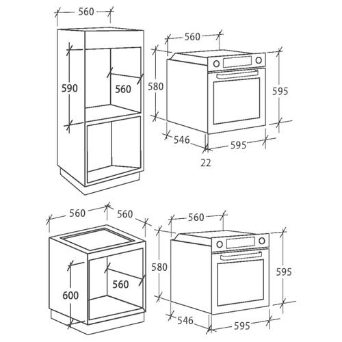 Электрический духовой шкаф Candy FCP 612 WXL