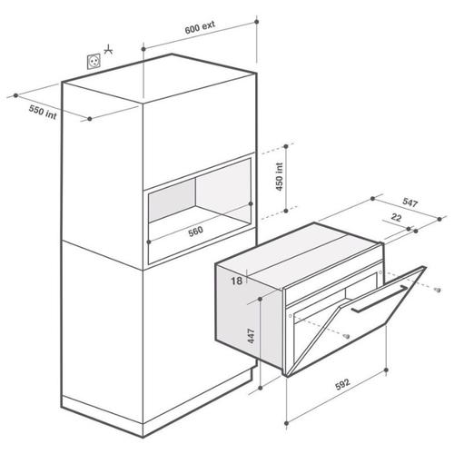 Микроволновая печь встраиваемая De Dietrich DKE7220X