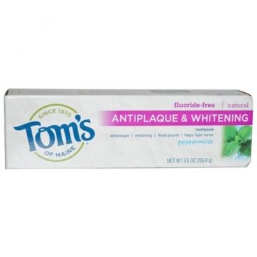 Зубная паста Tom's of Maine Antiplaque & Whitening Перечная мята