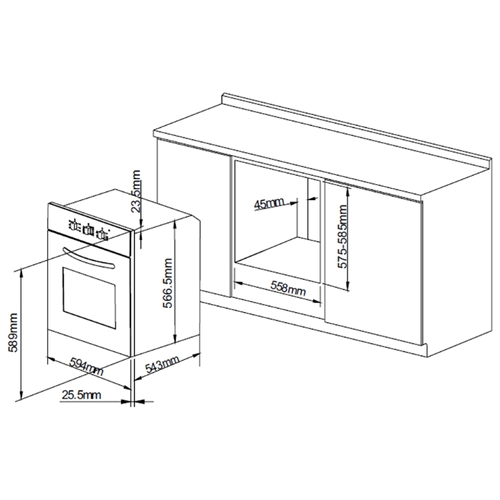 Электрический духовой шкаф PYRAMIDA F 60 M GBL