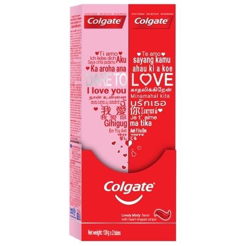 Зубная паста Colgate Dare to Love с сердечками, 2 х 130 г
