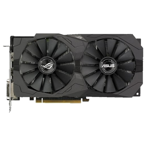 Видеокарта ASUS ROG Radeon RX 570 1300MHz PCI-E 3.0 4096MB 7000MHz 256 bit 2xDVI HDMI DisplayPort HDCP Strix OC Gaming