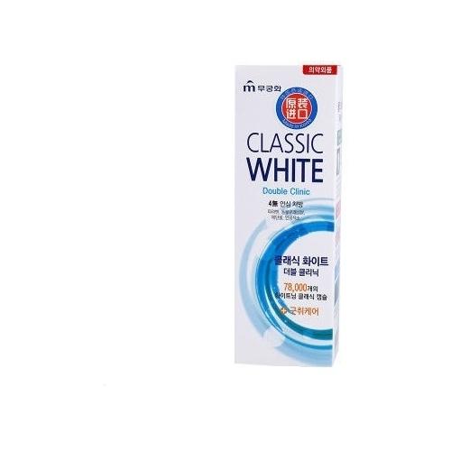Зубная паста Mukunghwa Classic white double clinic, мята и ментол
