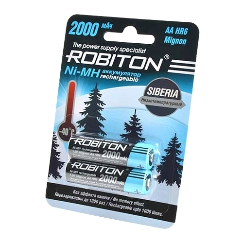Аккумулятор Ni-Mh 2000 мА·ч ROBITON Siberia AA HR6 Mignon 2000
