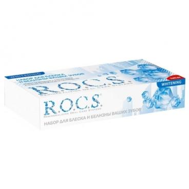 Набор средств R.O.C.S. зубная паста Отбеливающая 74 г + гель реминерализующий Medical Minerals 45 г