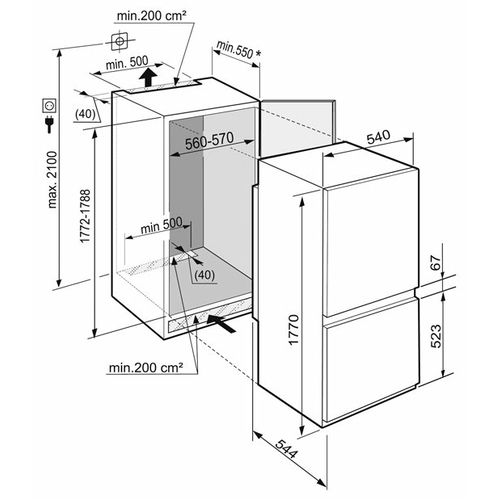 Встраиваемый холодильник Liebherr ICBS 3224 Comfort BioFresh