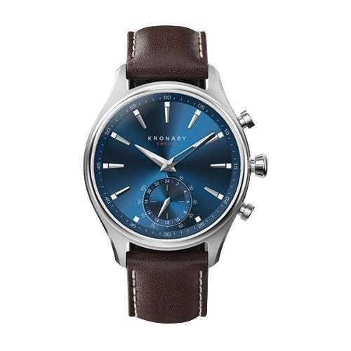 Часы Kronaby Sekel (leather strap, one sub dial) 41mm