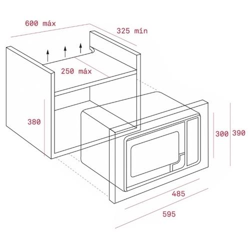 Микроволновая печь встраиваемая TEKA MS 620 BIS (40584010)