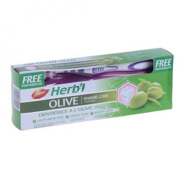 Зубная паста + щетка Dabur Herb'l Olive