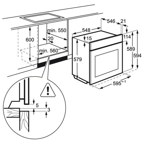 Электрический духовой шкаф AEG BCR 546350 B