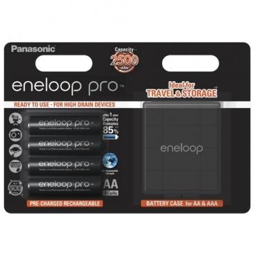 Аккумулятор Ni-Mh 2500 мА·ч Panasonic eneloop pro AA + кейс