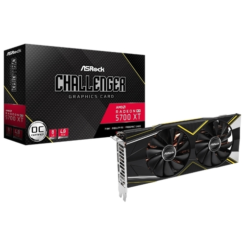 Видеокарта ASRock Radeon RX 5700 XT 1650MHz PCI-E 4.0 8192MB 14000MHz 256 bit 3xDisplayPort HDMI HDCP Challenger D OC