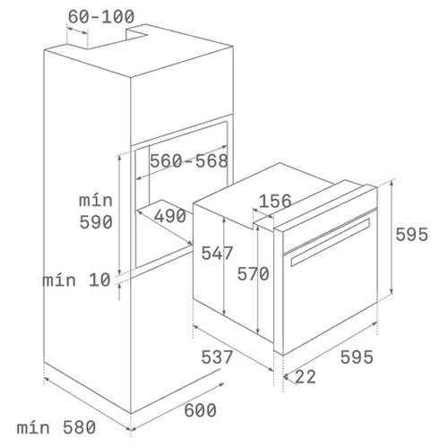 Электрический духовой шкаф TEKA HSB 645 SS INOX (41560153)