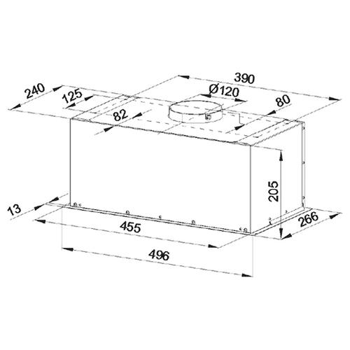 Встраиваемая вытяжка Konigin FlatBox 50 Inox