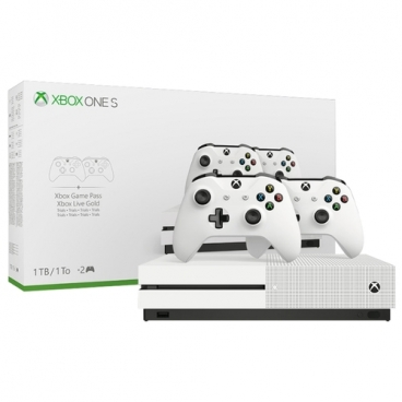 Игровая приставка Microsoft Xbox One S 1 ТБ с двумя геймпадами