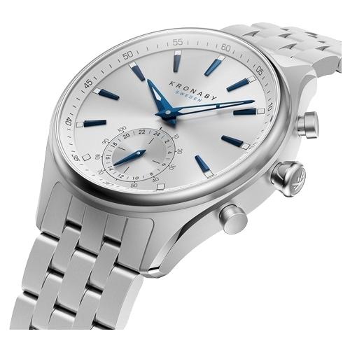 Часы Kronaby Sekel (metal bracelet, one sub dial) 41mm