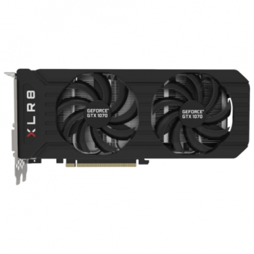 Видеокарта PNY GeForce GTX 1070 1518Mhz PCI-E 3.0 8192Mb 8000Mhz 256 bit DVI HDMI HDCP XLR8 OC GAMING Twin Fan