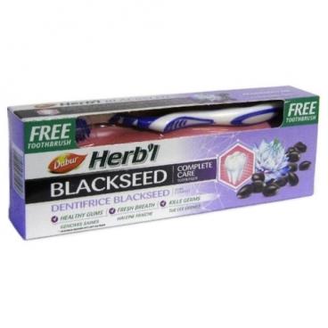 Зубная паста + щетка Dabur Herb'l с черным тмином