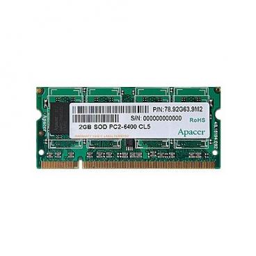 Оперативная память 2 ГБ 1 шт. Apacer DDR2 800 SO-DIMM 2Gb