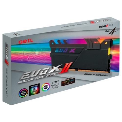 Оперативная память 8 ГБ 1 шт. GeIL EVO X II GEXSB48GB3200C16ASC
