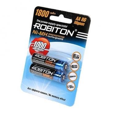 Аккумулятор Ni-Mh 1800 мА·ч ROBITON AA R6 Mignon 1800