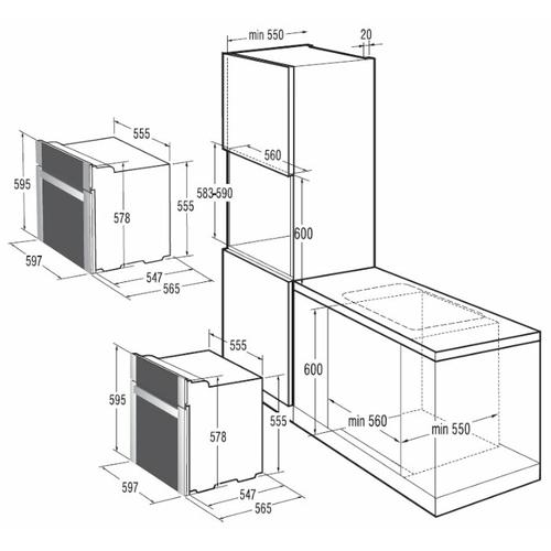 Электрический духовой шкаф Gorenje BO 87 W