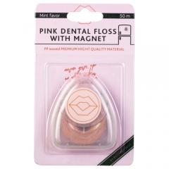 My Brilliant Smile Зубная нить с магнитом, розовая