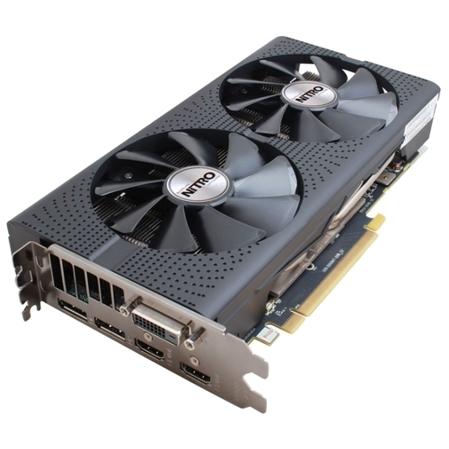 Видеокарта Sapphire Nitro ОС Radeon RX 480 1202Mhz PCI-E 3.0 4096Mb 7000Mhz 256 bit DVI 2xHDMI HDCP (11260-13)